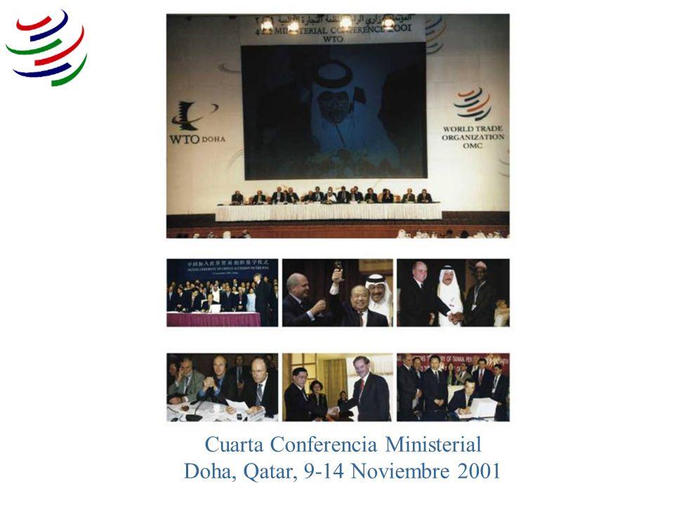 Cuarta Conferencia Ministerial Doha, Qatar, 9-14 Noviembre 2001