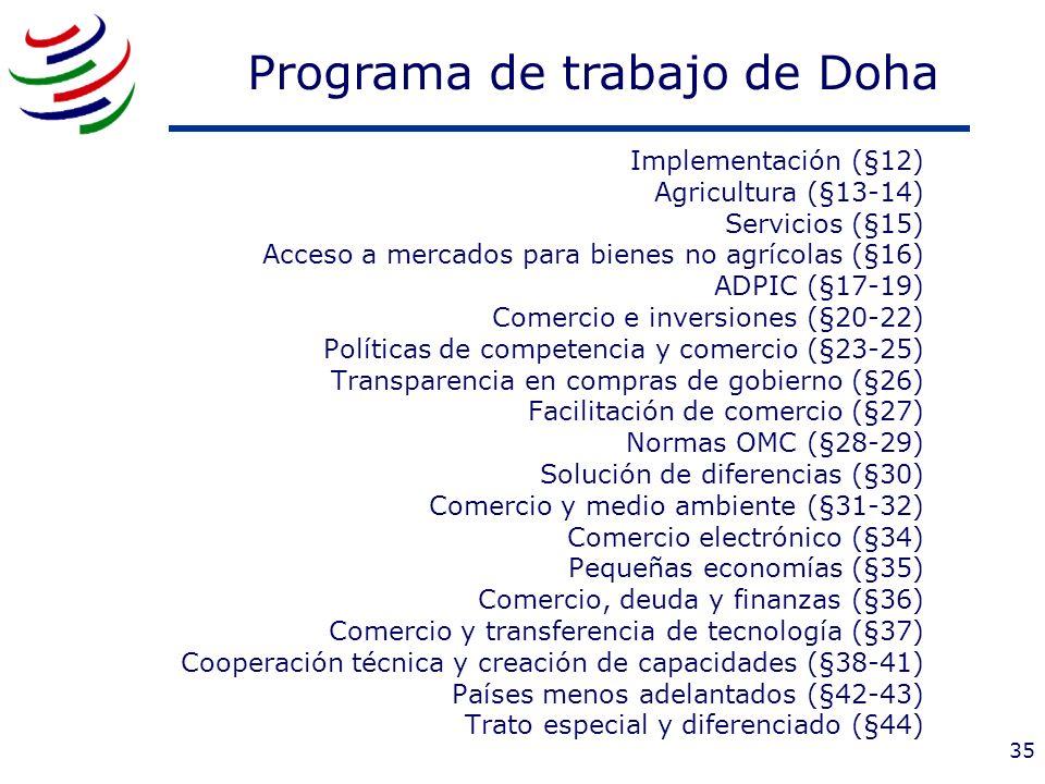 Programa de trabajo de Doha