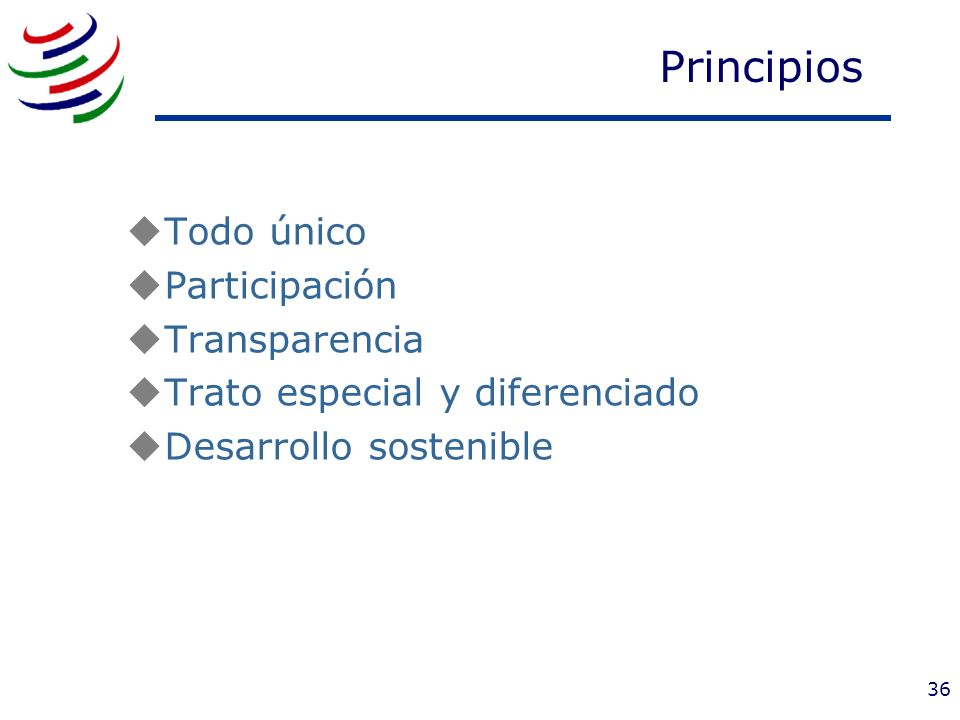 Principios Todo único Participación Transparencia