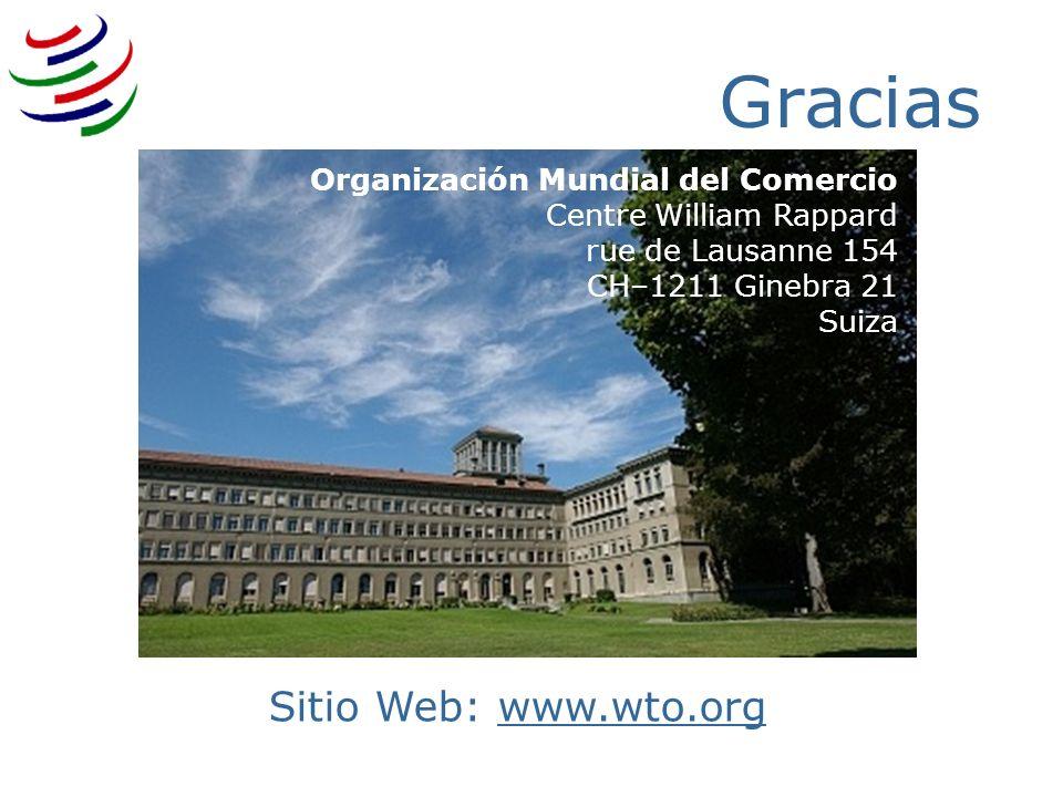 3/25/2017 Gracias. Organización Mundial del Comercio Centre William Rappard rue de Lausanne 154 CH–1211 Ginebra 21 Suiza.