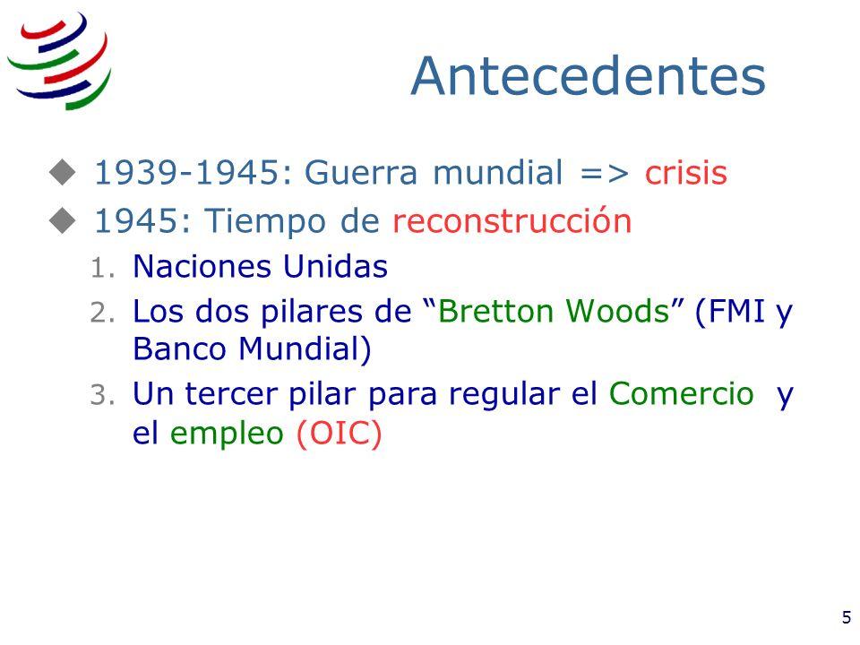 Antecedentes 1939-1945: Guerra mundial => crisis