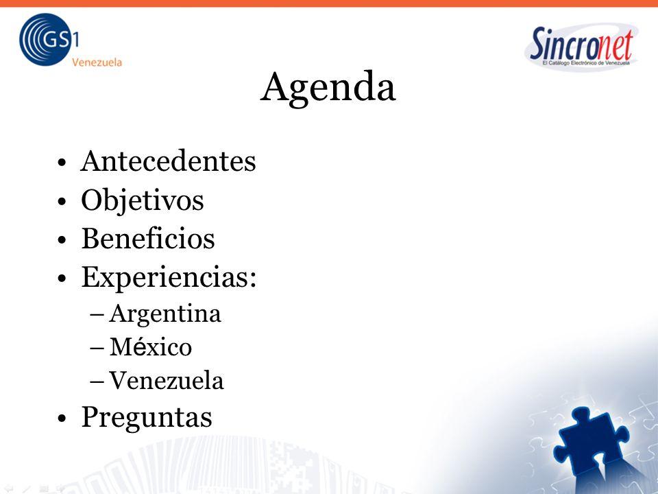 Agenda Antecedentes Objetivos Beneficios Experiencias: Preguntas