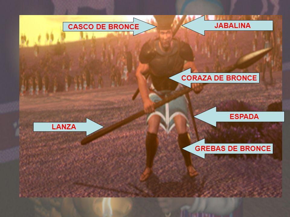JABALINA CASCO DE BRONCE CORAZA DE BRONCE ESPADA LANZA GREBAS DE BRONCE