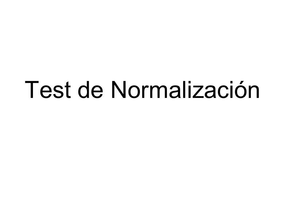 Test de Normalización