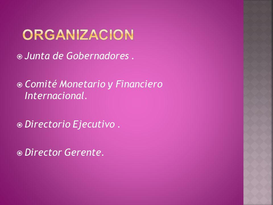 organizacion Junta de Gobernadores .
