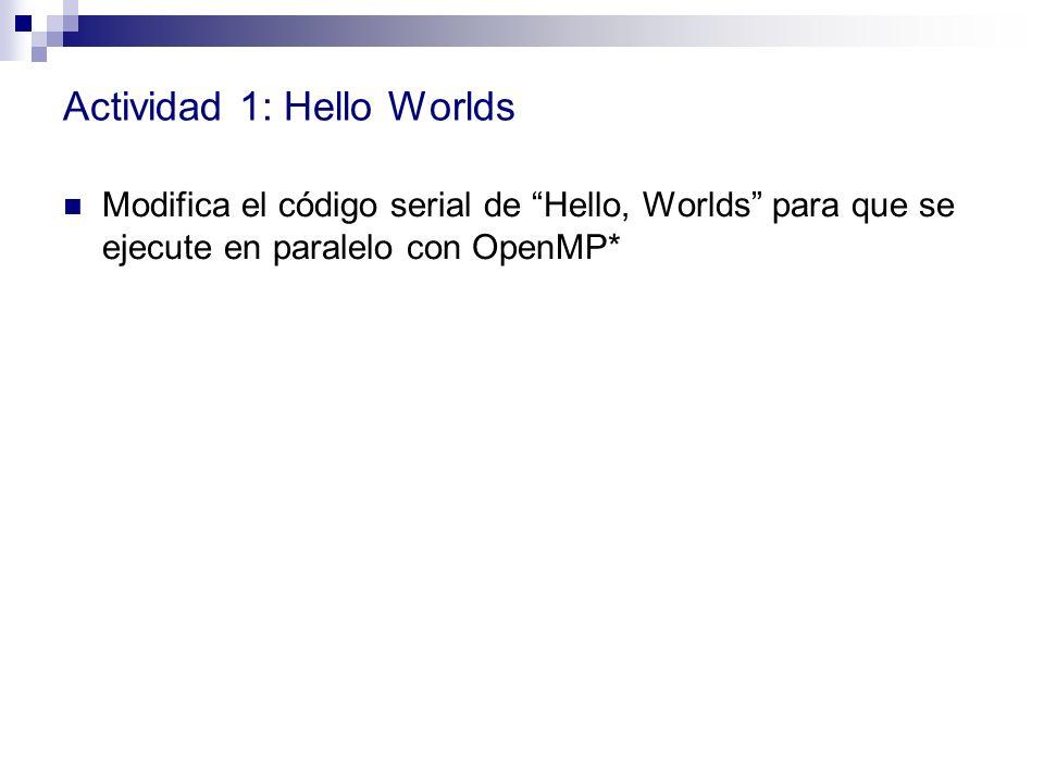 Actividad 1: Hello Worlds