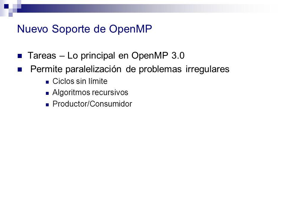 Nuevo Soporte de OpenMP