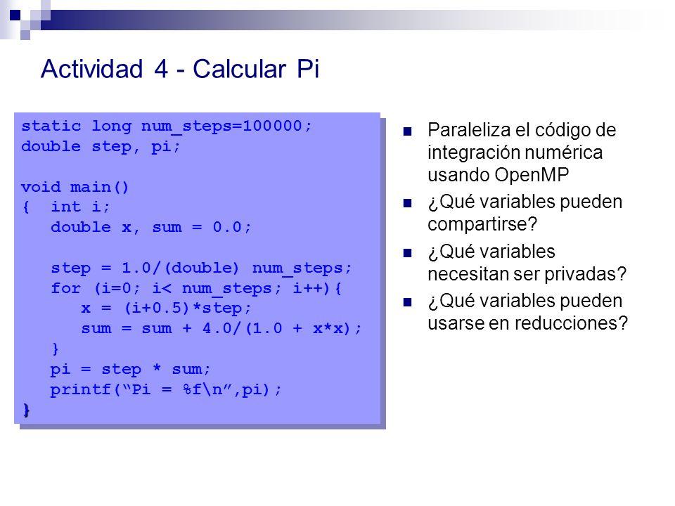 Actividad 4 - Calcular Pi