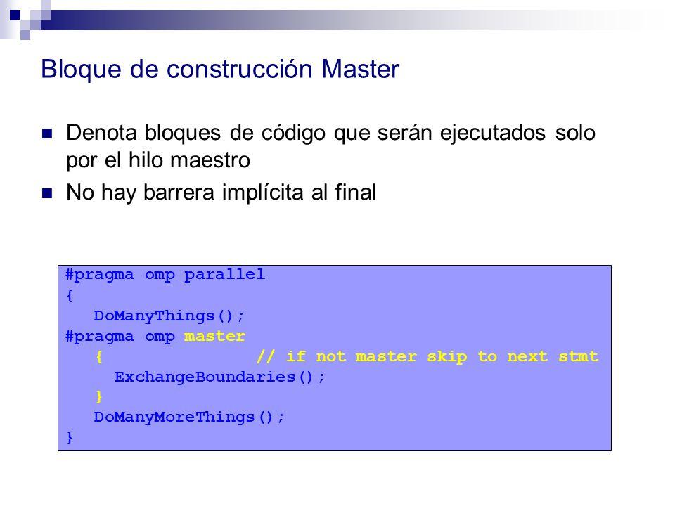 Bloque de construcción Master