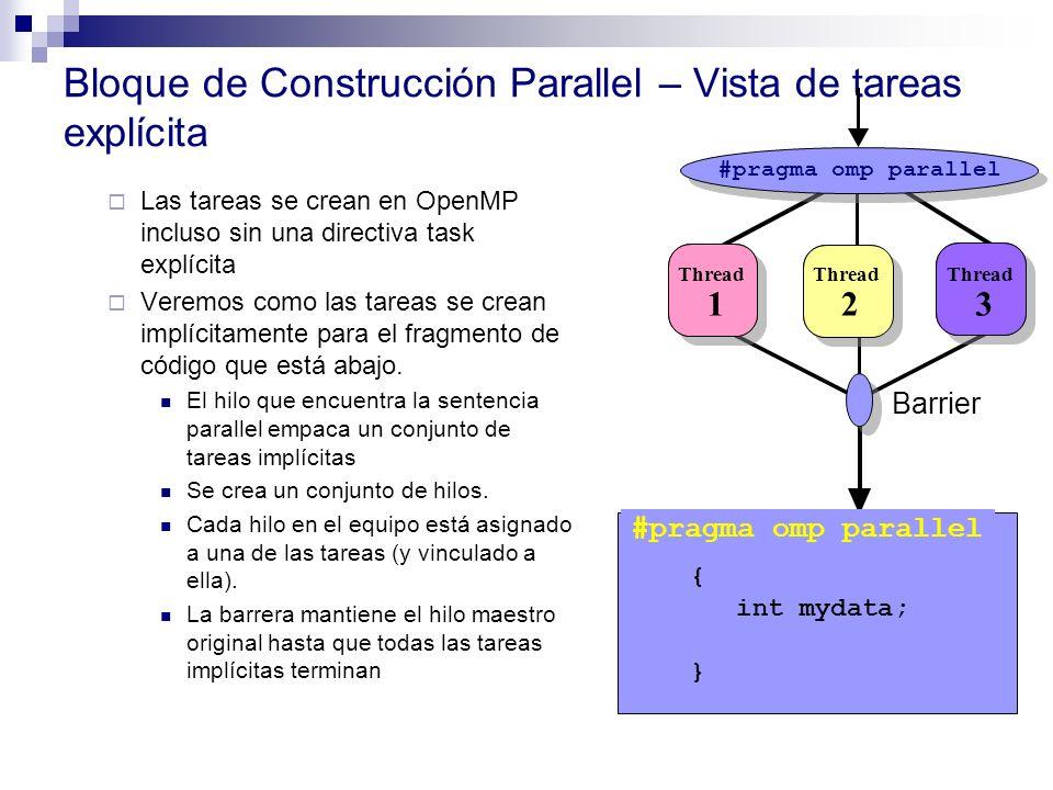 Bloque de Construcción Parallel – Vista de tareas explícita