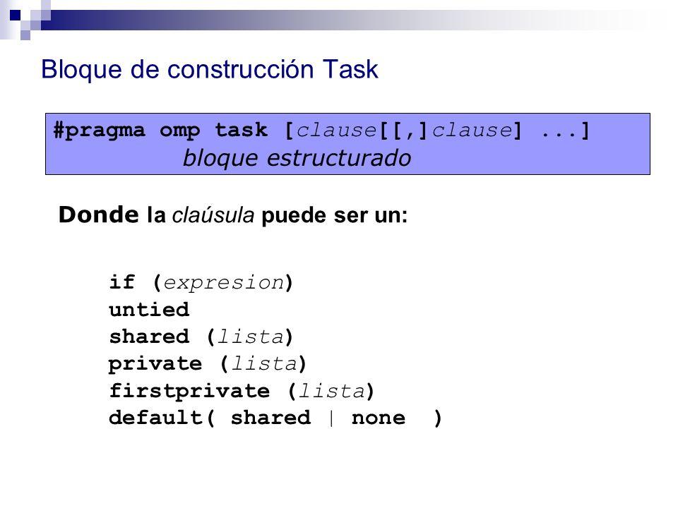 Bloque de construcción Task