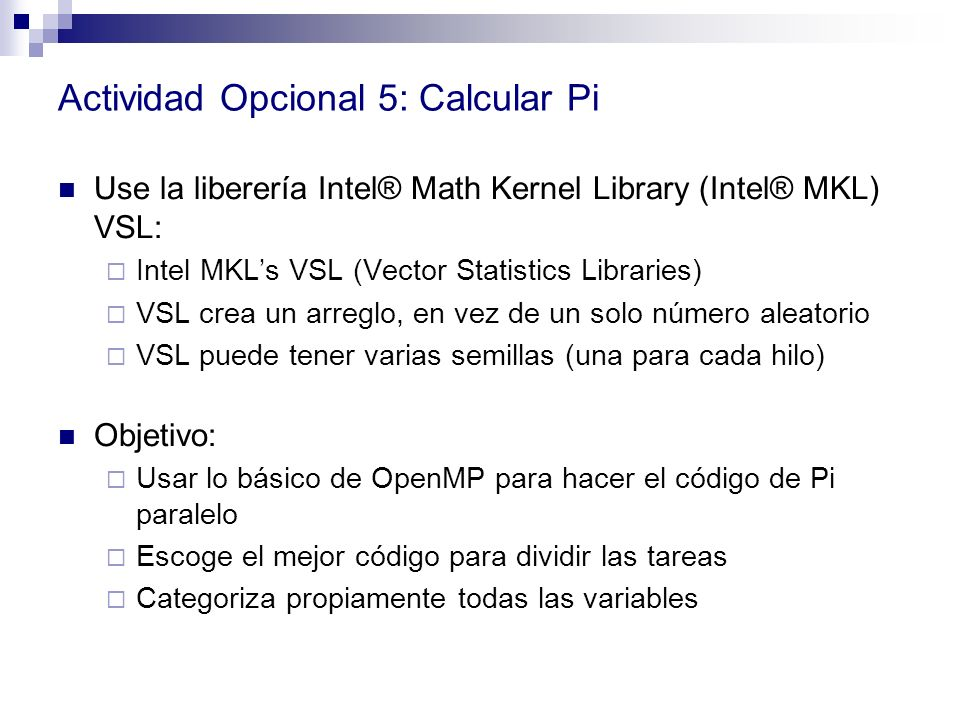 Actividad Opcional 5: Calcular Pi