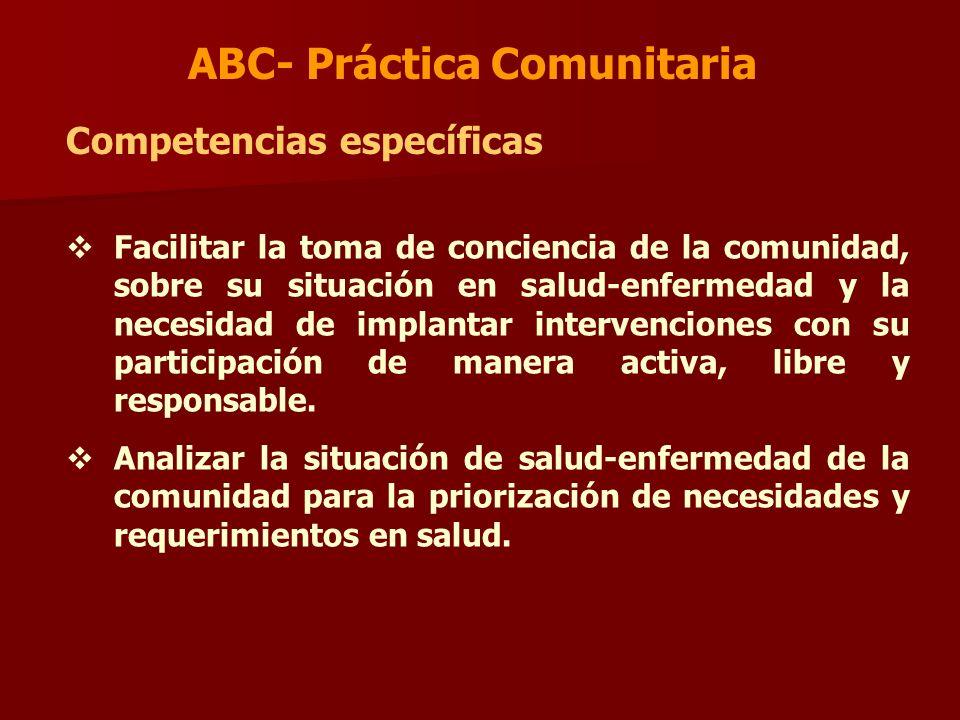 ABC- Práctica Comunitaria