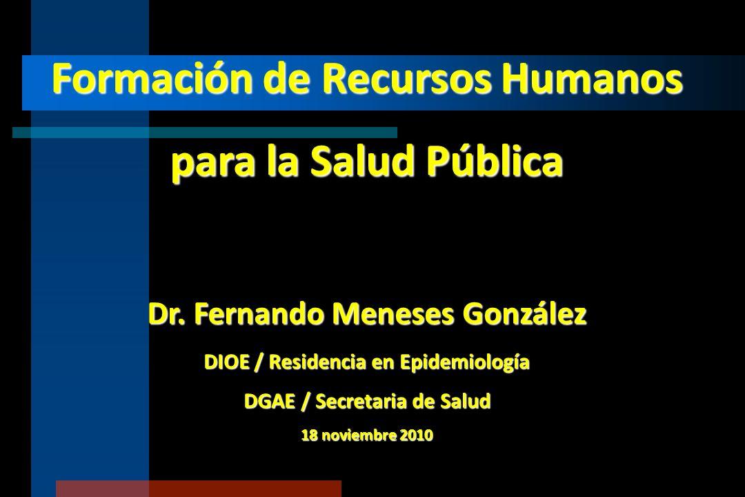 Formación de Recursos Humanos para la Salud Pública