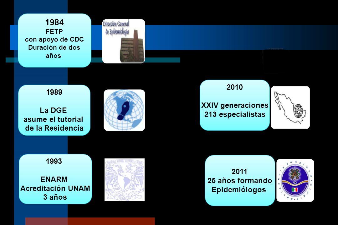1984 2010 1989 XXIV generaciones La DGE 213 especialistas