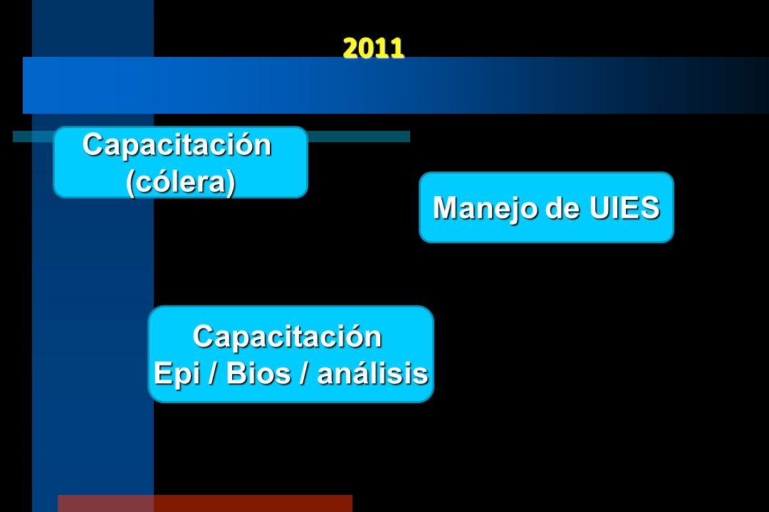 2011 Capacitación (cólera) Manejo de UIES Capacitación Epi / Bios / análisis