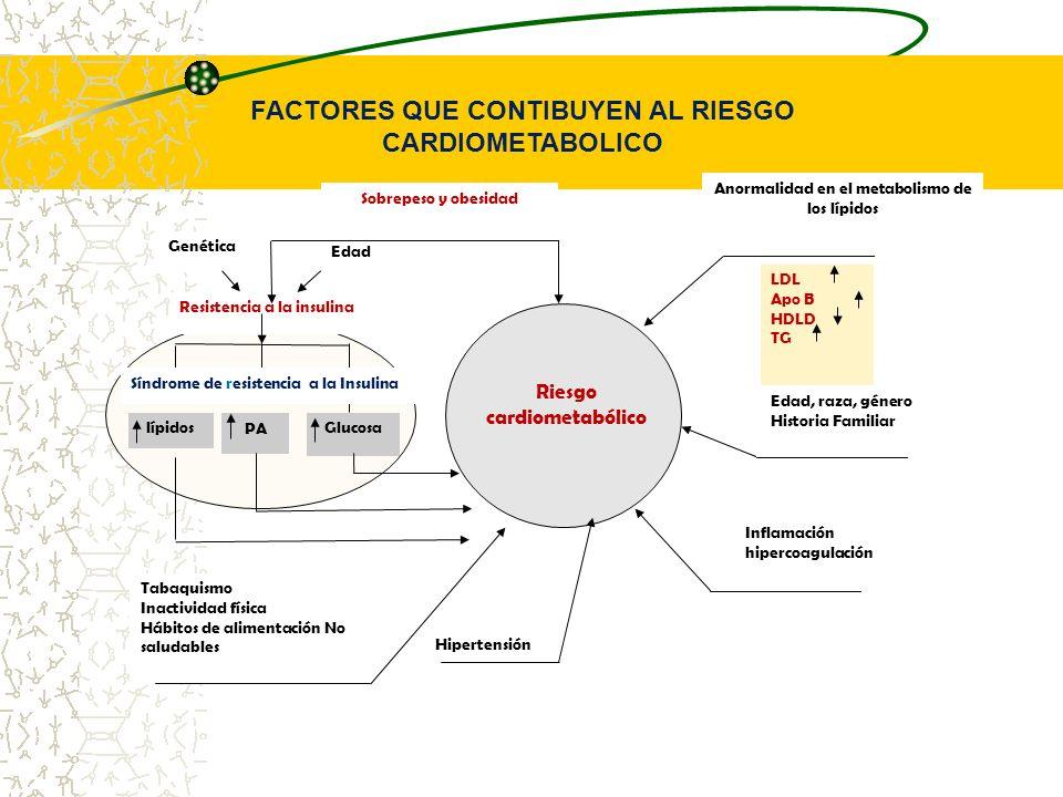 FACTORES QUE CONTIBUYEN AL RIESGO CARDIOMETABOLICO