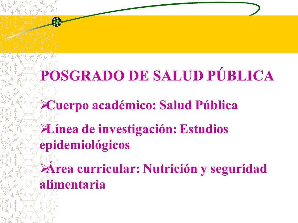 POSGRADO DE SALUD PÚBLICA