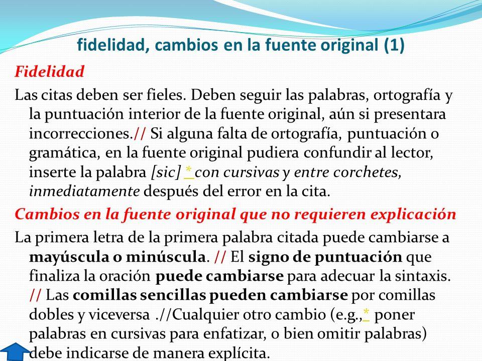 fidelidad, cambios en la fuente original (1)