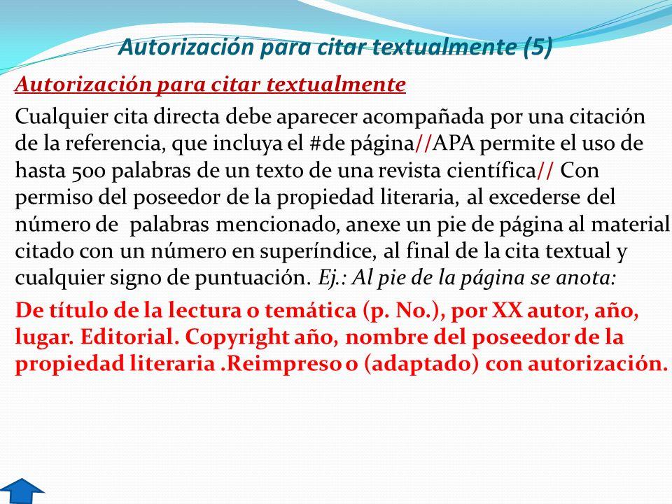Autorización para citar textualmente (5)