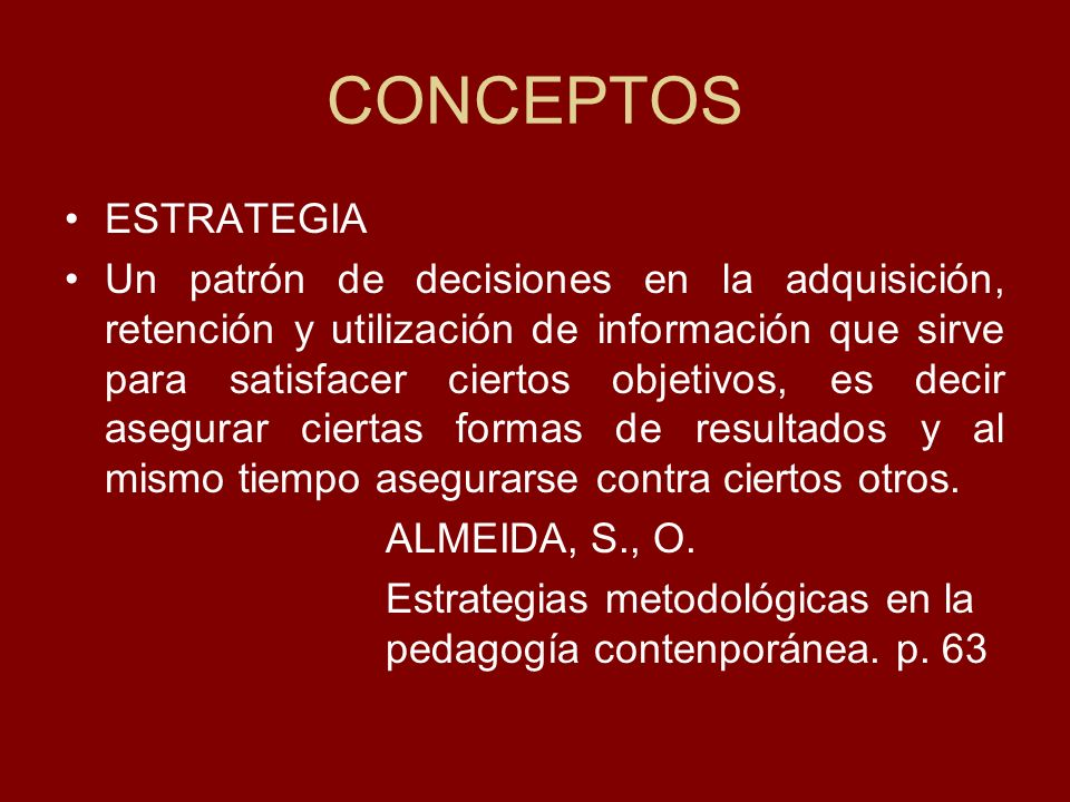 CONCEPTOS ESTRATEGIA.