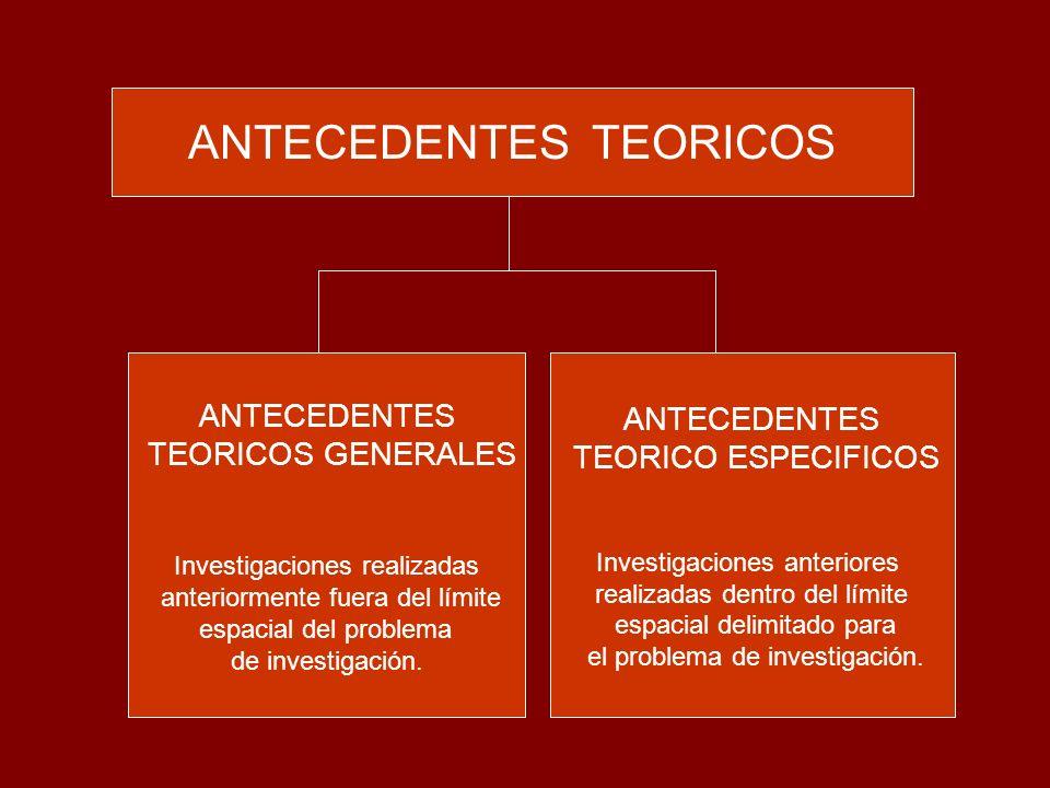 ANTECEDENTES TEORICOS