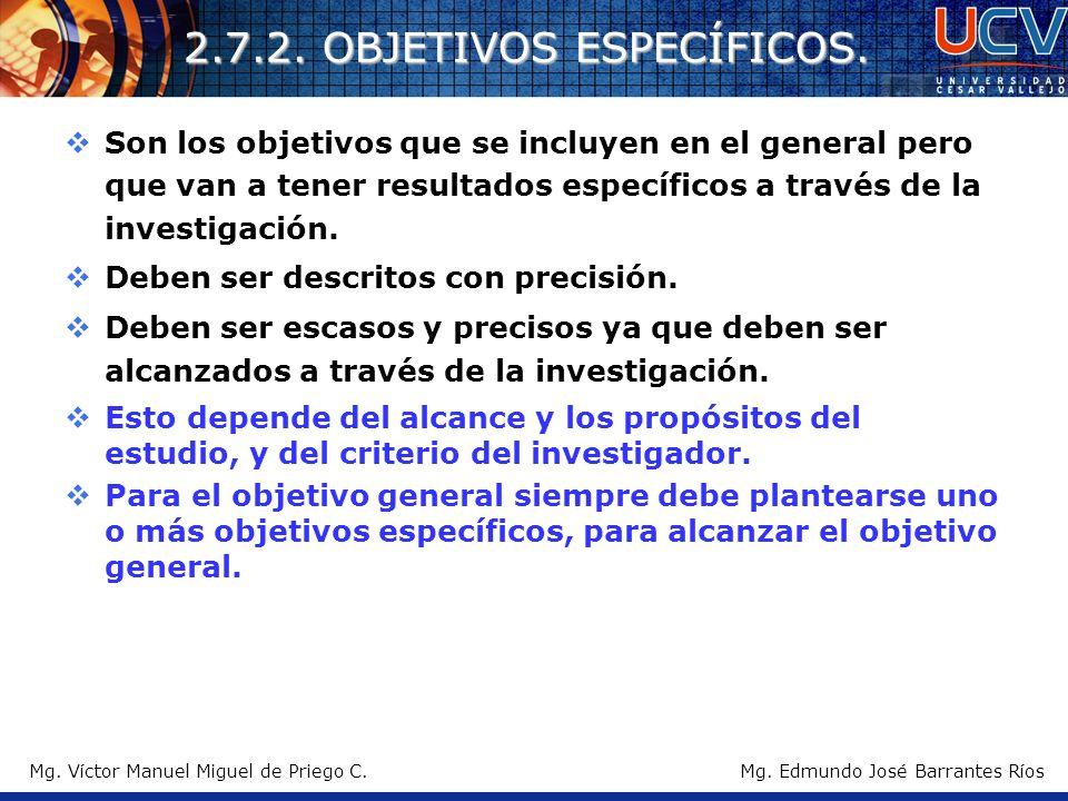 2.7.2. OBJETIVOS ESPECÍFICOS.