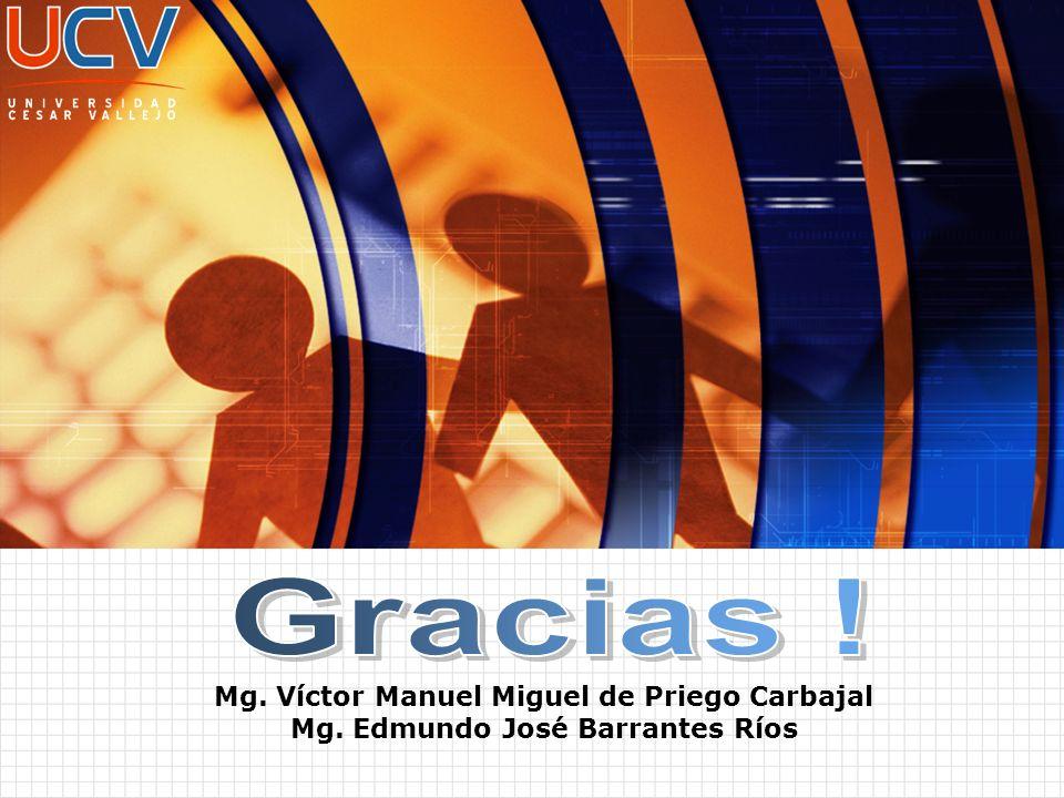 Gracias ! Mg. Víctor Manuel Miguel de Priego Carbajal