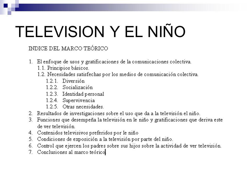 TELEVISION Y EL NIÑO