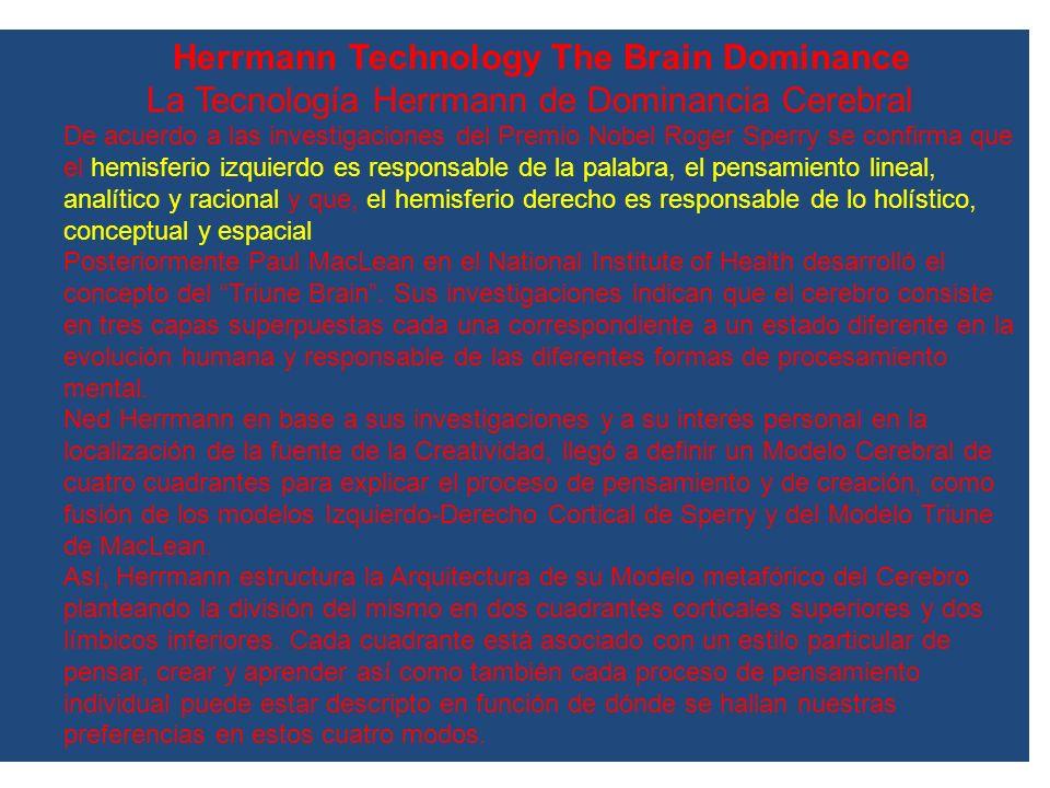 La Tecnología Herrmann de Dominancia Cerebral