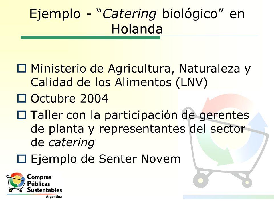 Ejemplo - Catering biológico en Holanda