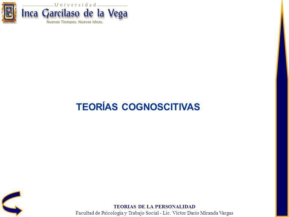 TEORÍAS COGNOSCITIVAS TEORIAS DE LA PERSONALIDAD