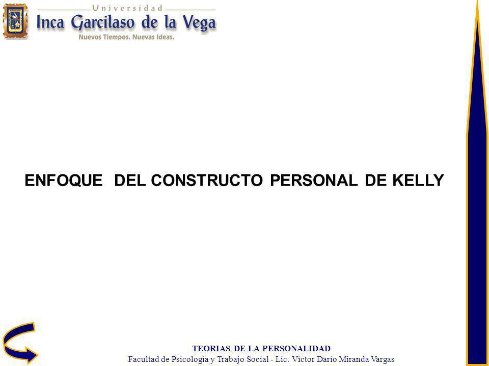 ENFOQUE DEL CONSTRUCTO PERSONAL DE KELLY TEORIAS DE LA PERSONALIDAD
