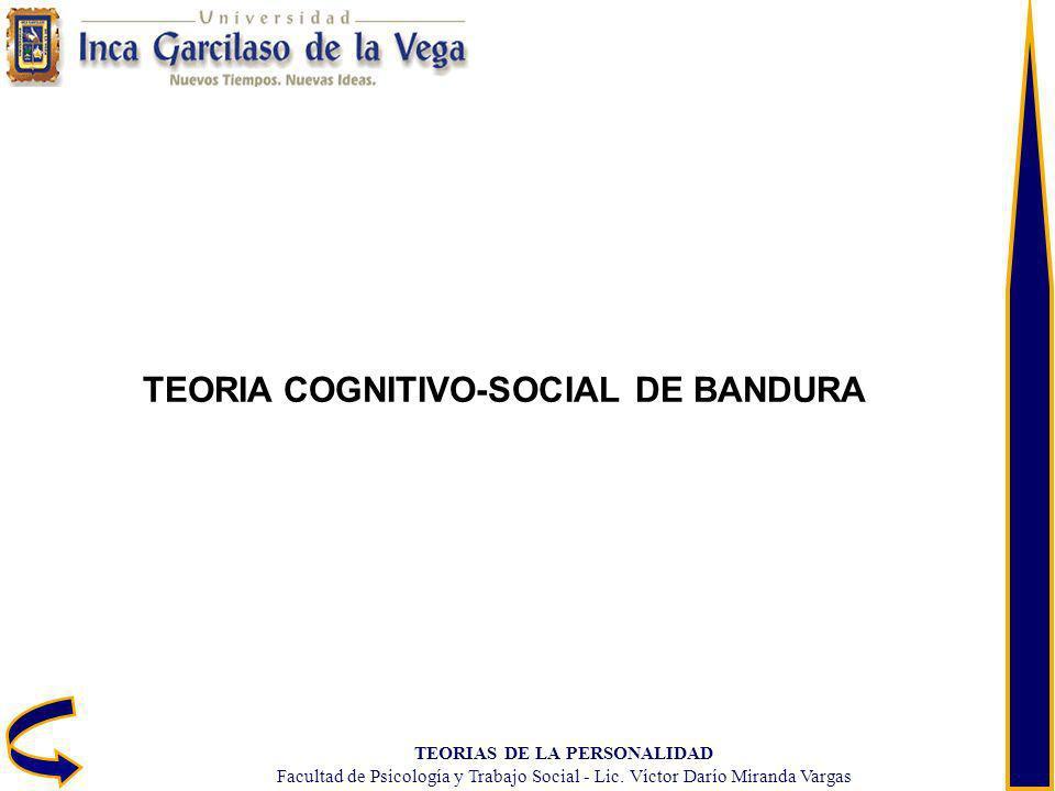 TEORIA COGNITIVO-SOCIAL DE BANDURA TEORIAS DE LA PERSONALIDAD