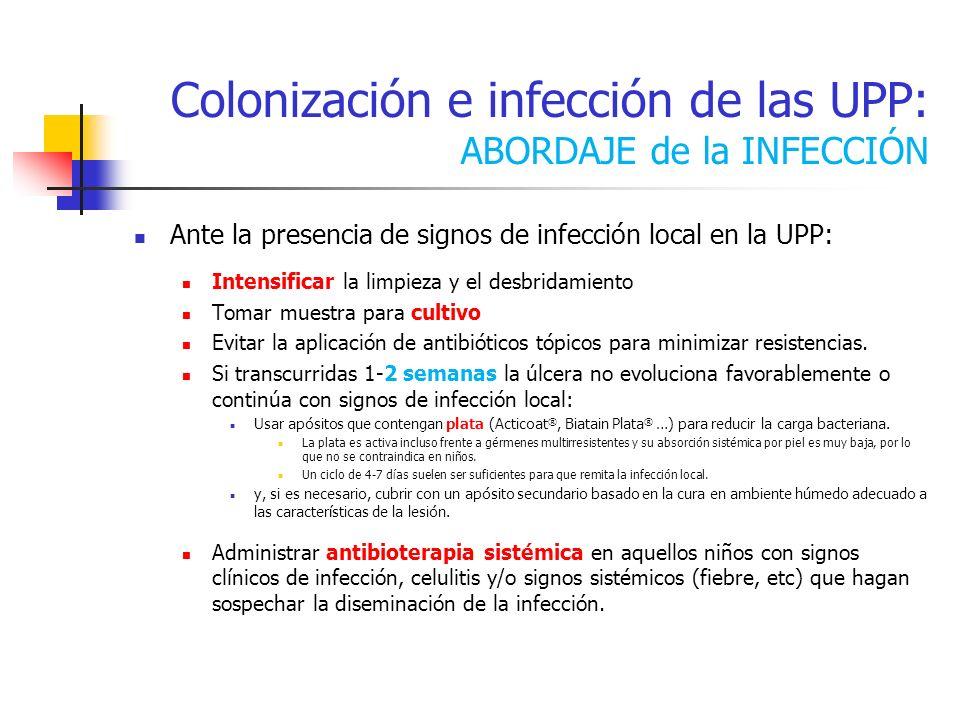 Colonización e infección de las UPP: ABORDAJE de la INFECCIÓN