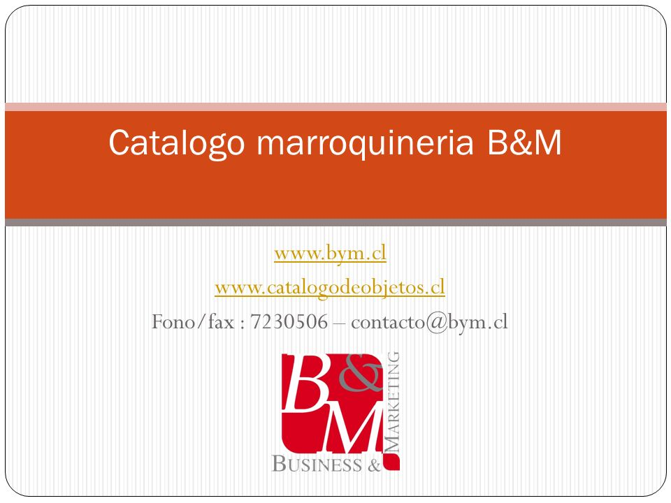 Catalogo marroquineria B&M