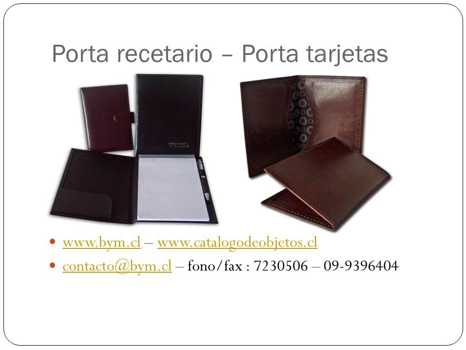 Porta recetario – Porta tarjetas