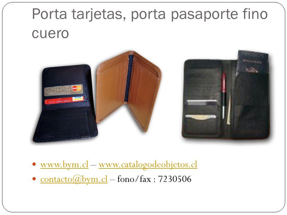 Porta tarjetas, porta pasaporte fino cuero