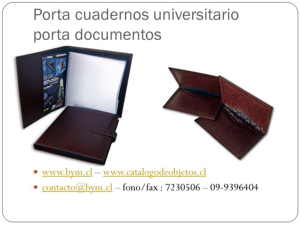 Porta cuadernos universitario porta documentos