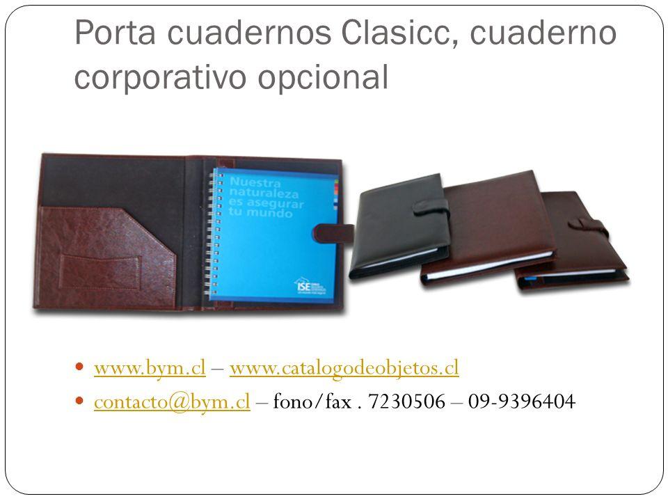 Porta cuadernos Clasicc, cuaderno corporativo opcional