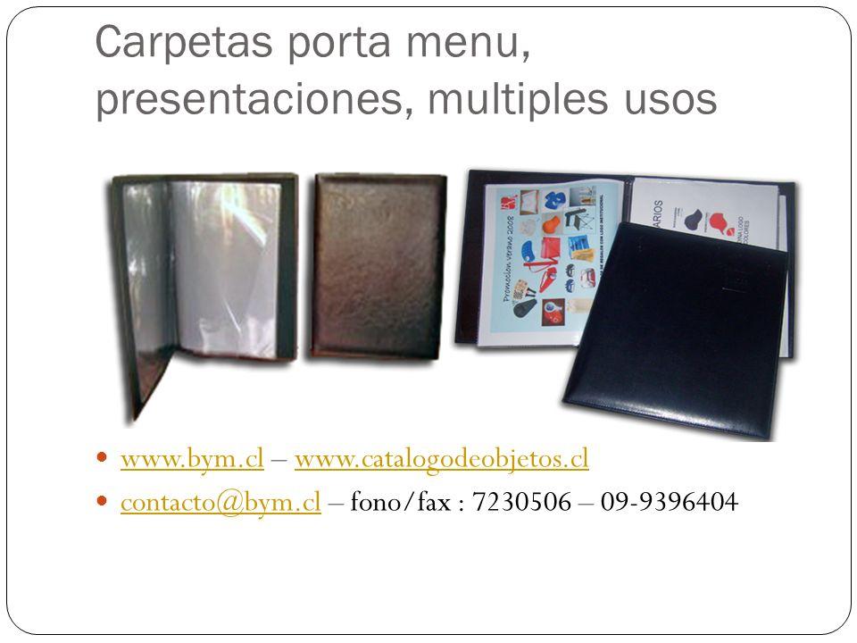 Carpetas porta menu, presentaciones, multiples usos
