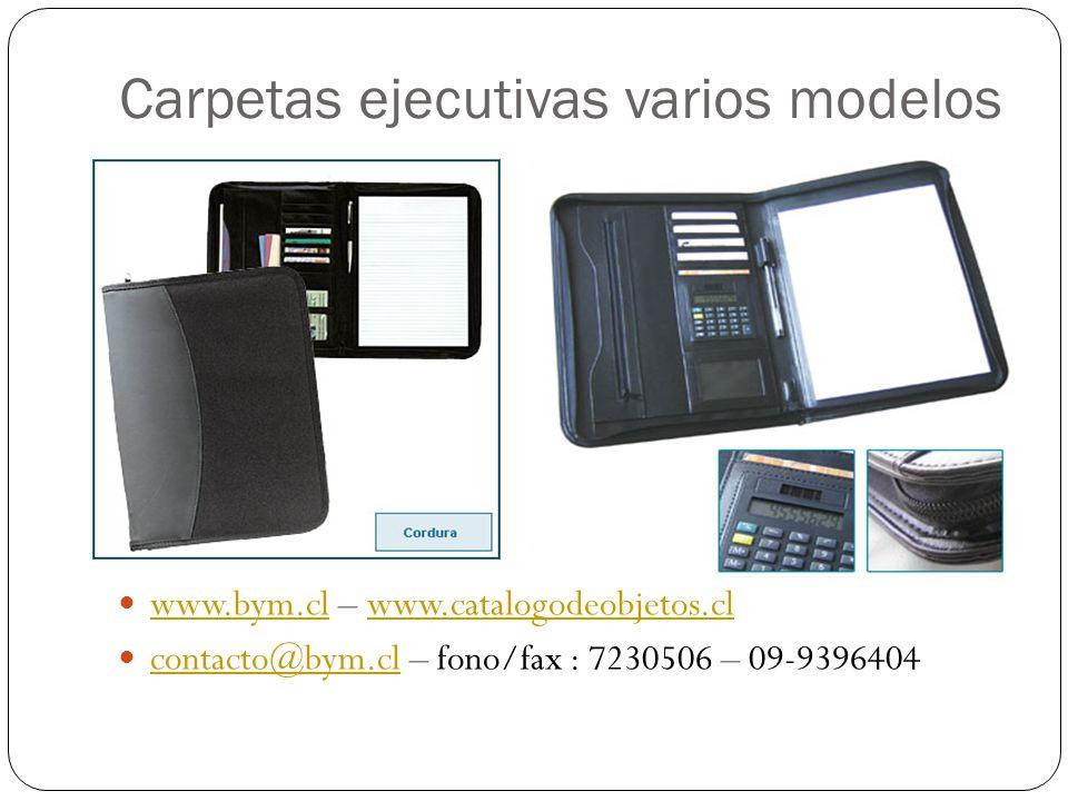 Carpetas ejecutivas varios modelos