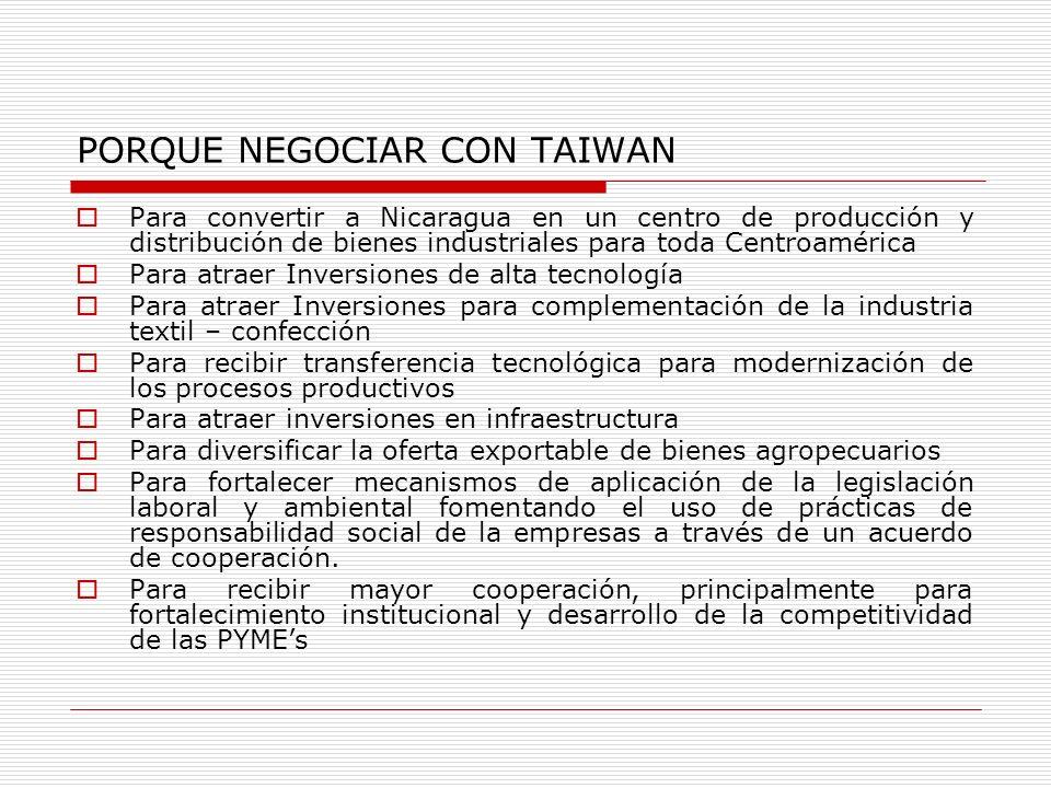 PORQUE NEGOCIAR CON TAIWAN