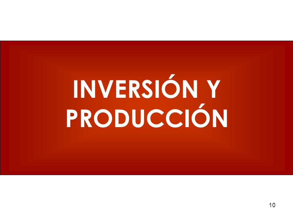 INVERSIÓN Y PRODUCCIÓN