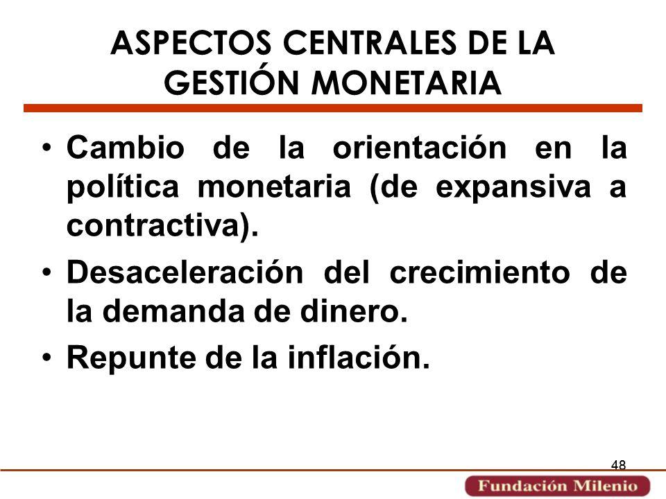 ASPECTOS CENTRALES DE LA GESTIÓN MONETARIA