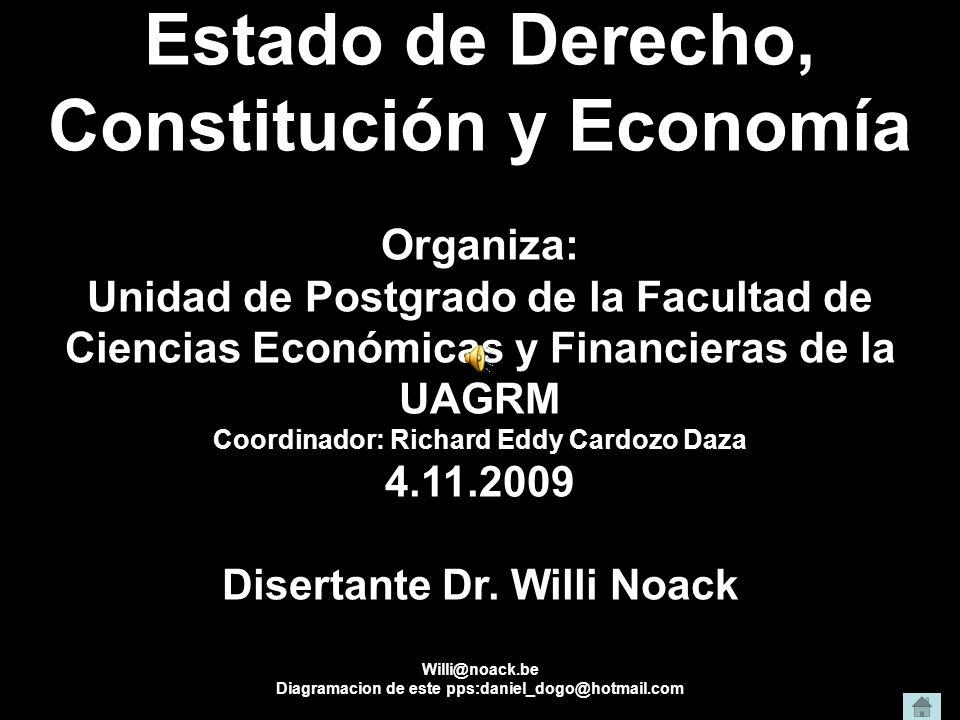 Estado de Derecho, Constitución y Economía