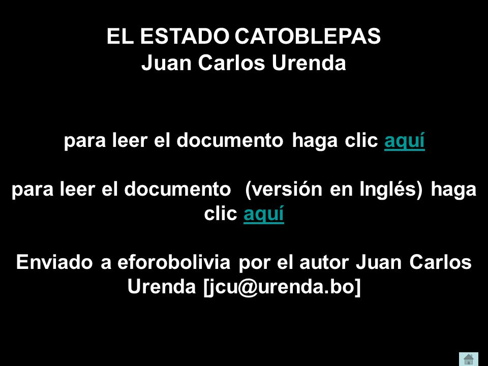 EL ESTADO CATOBLEPAS Juan Carlos Urenda
