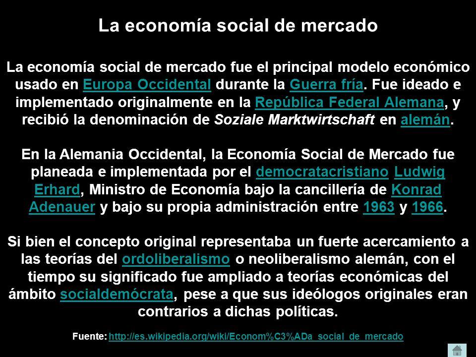 La economía social de mercado