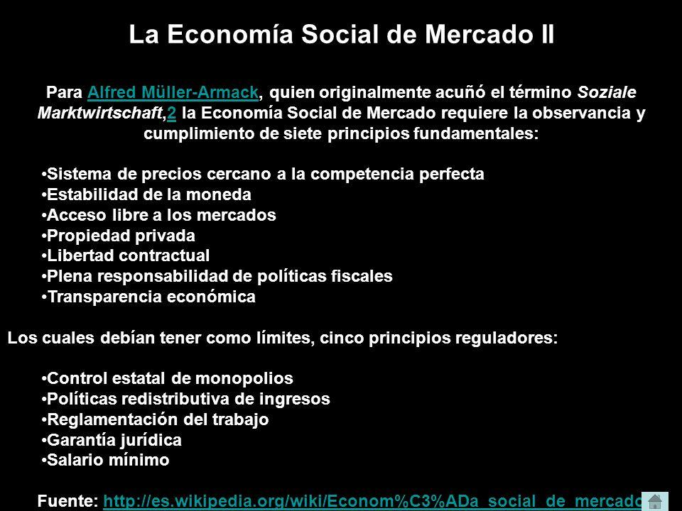 La Economía Social de Mercado II