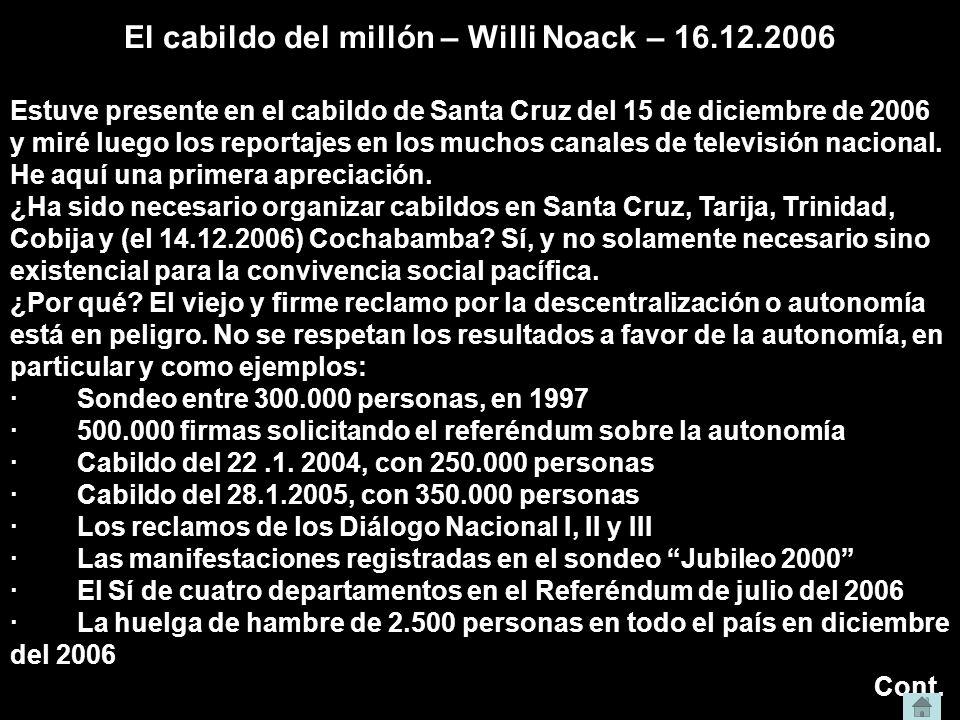 El cabildo del millón – Willi Noack – 16.12.2006